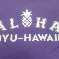 Aloha Pineapple BYUH Purple Womens Cut
