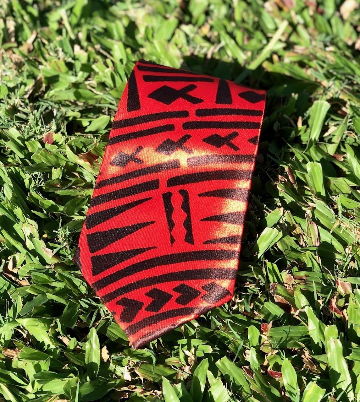 Polynesian Print Ties