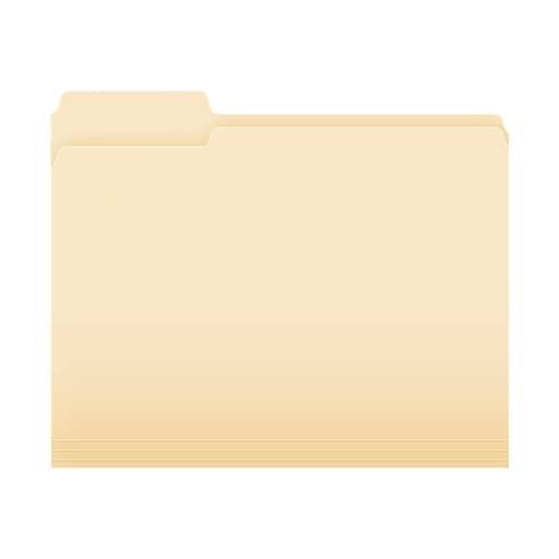 1/3 cut tab manila folder
