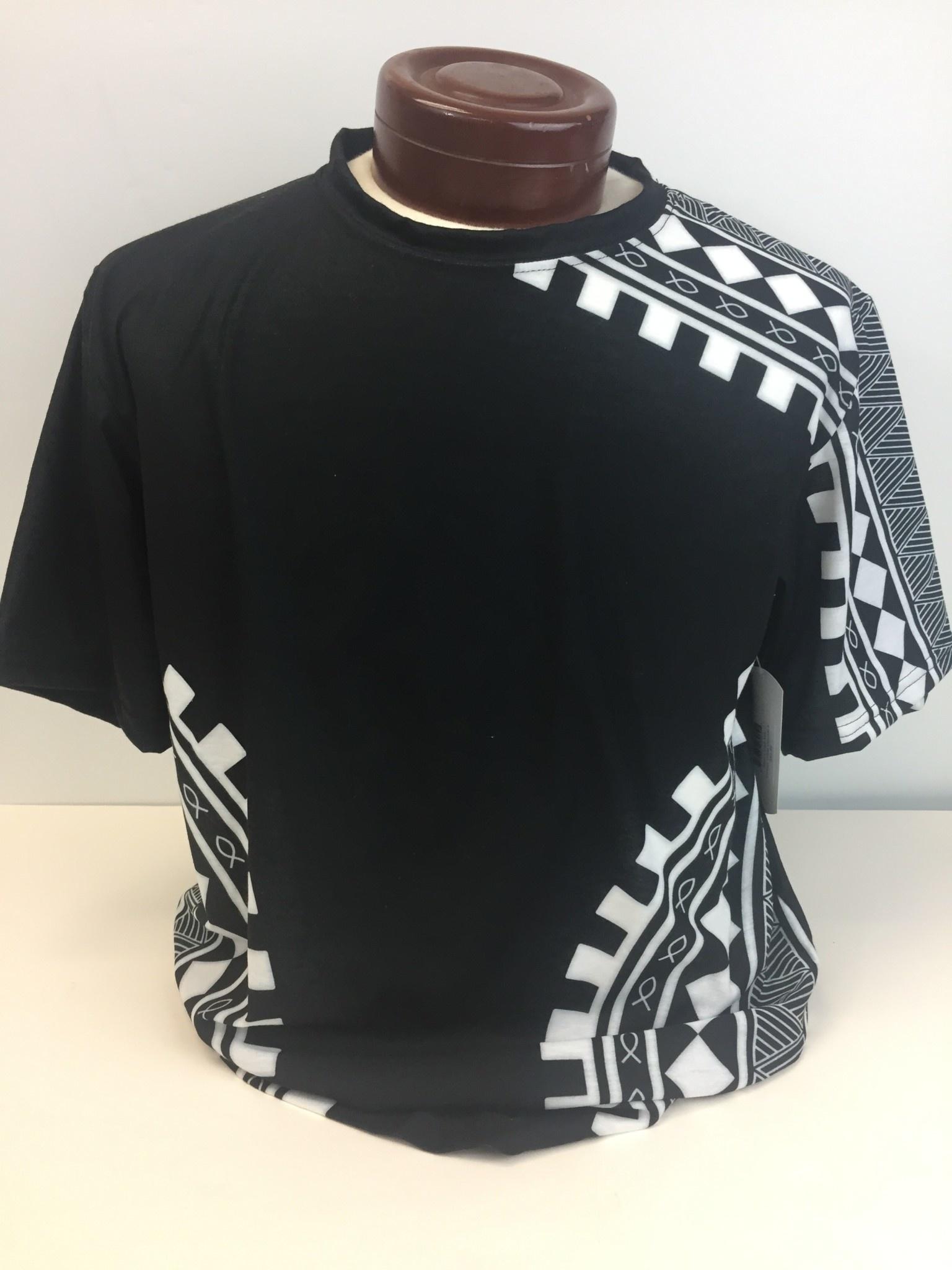 Black Tribal mens tee