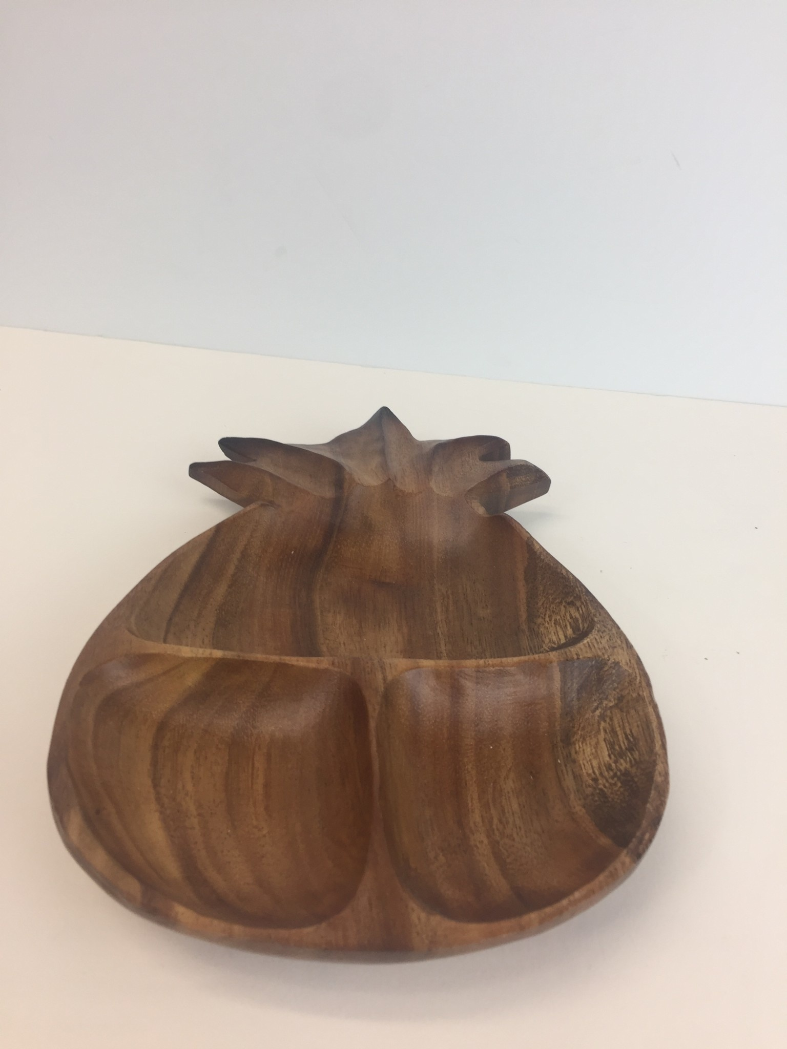 Wooden Pineapple Plate Big