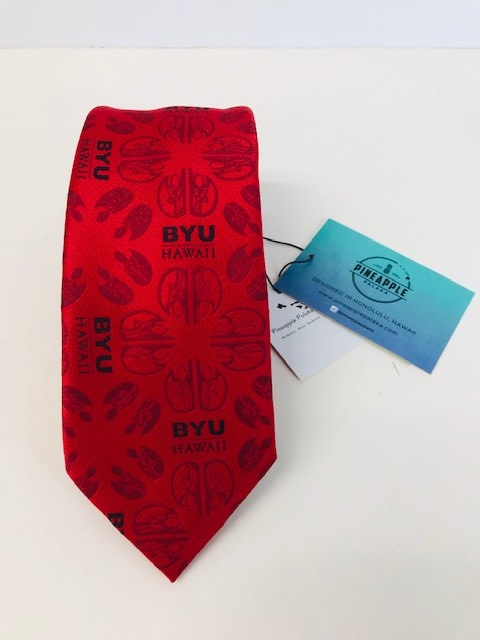 Pineapple Palaka Tie - BYUH Red