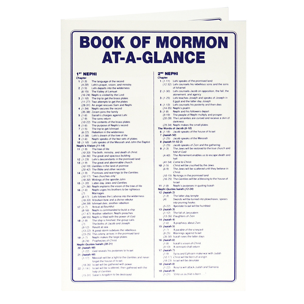 BOOK OF MORMON AT A GLANCE