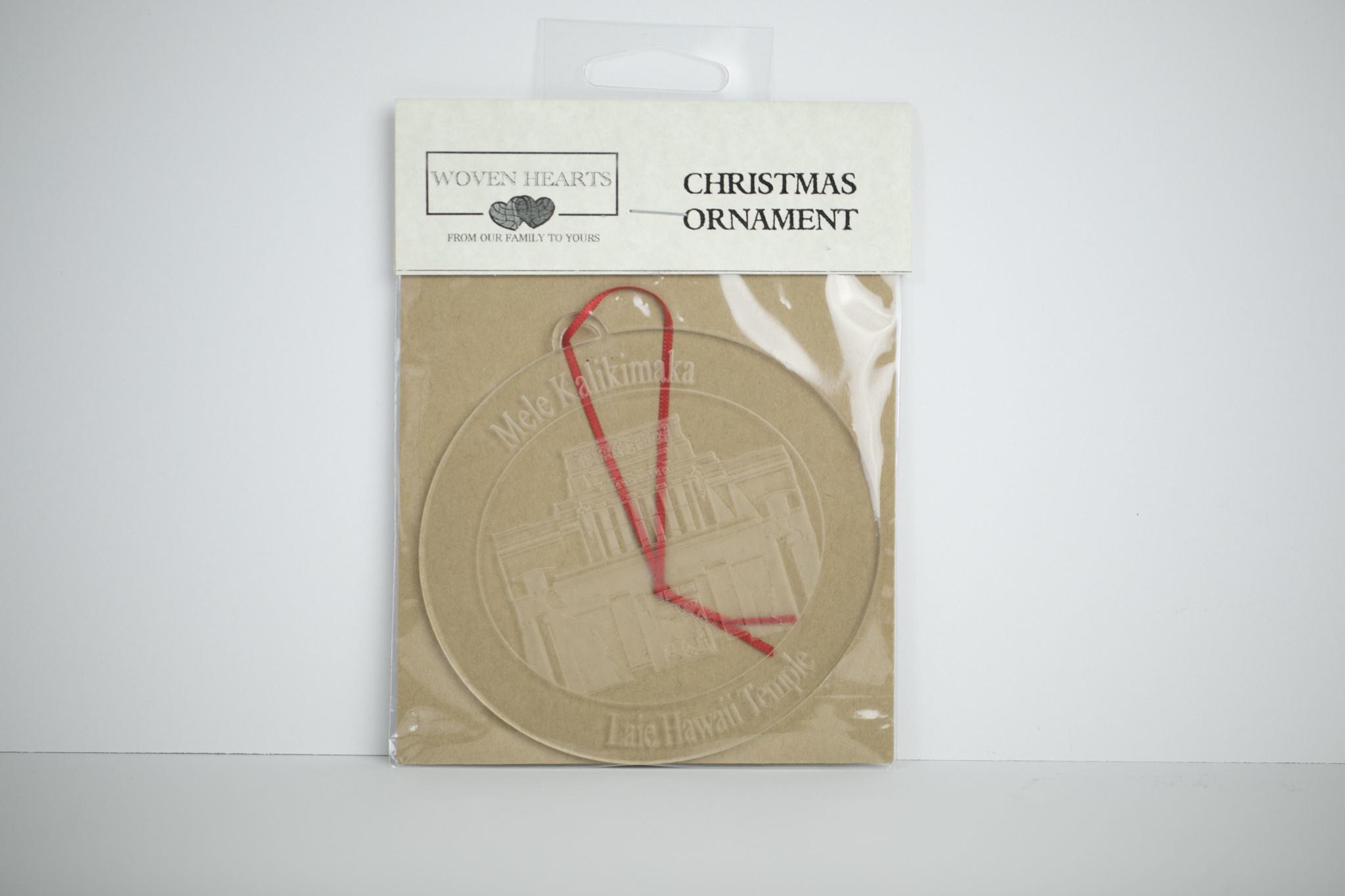 """Laie Temple Ornament Acrylic 4"""""""