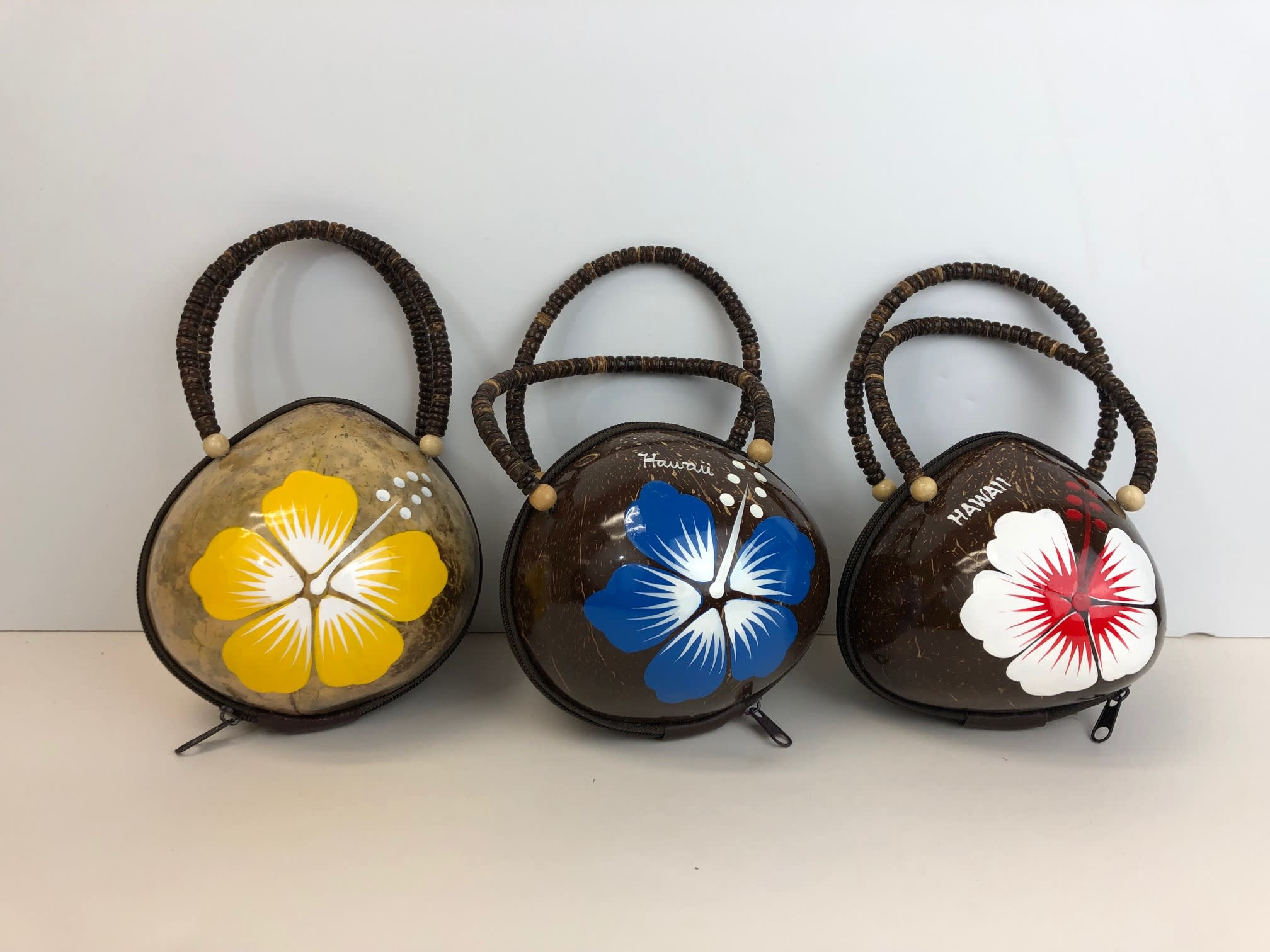 Coconut Bag with Hibiscus