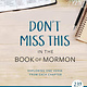 Deseret Books Don't Miss This in the Book of Mormon: Exploring One Verse from Each Chapter