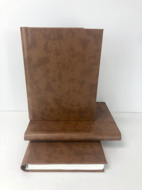 Deseret Books JOURNAL CONCEALED WIRED BROWN 8.5X11