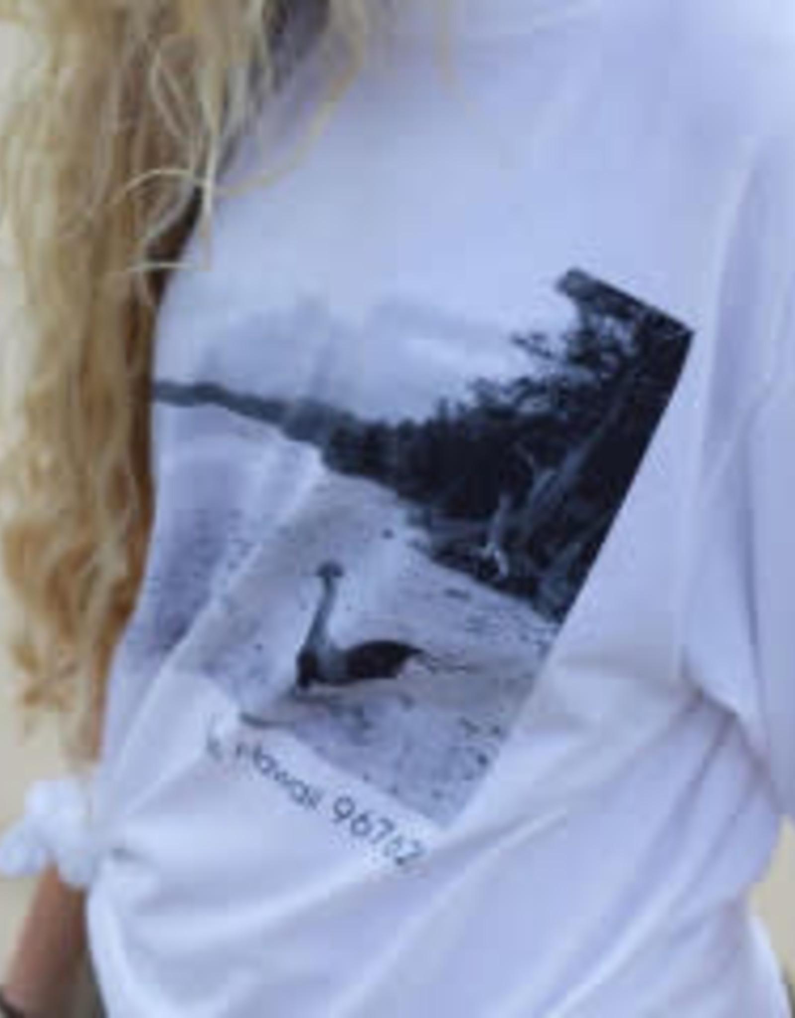 Laie Chicken Design Tshirt White