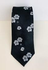 Skinny Tie Floral Homemade Silk