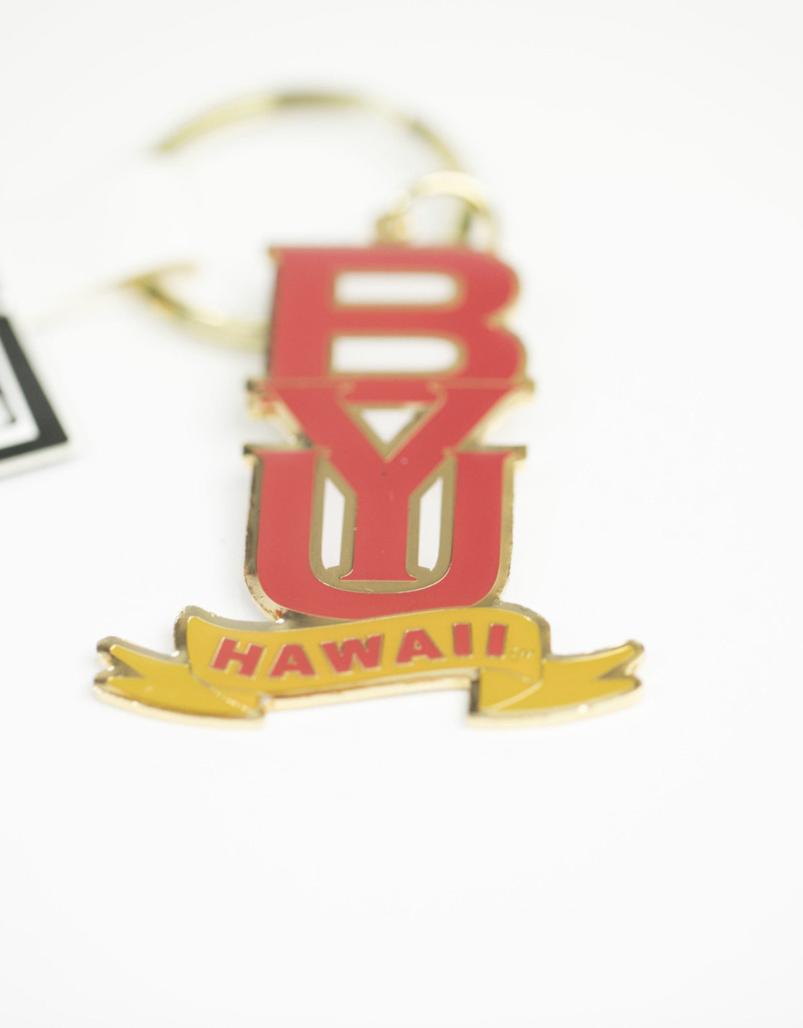 R&D BYU HAWAII METAL KEYTAG HAWAII BANNER