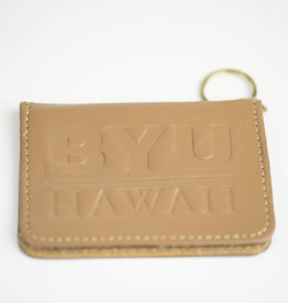 BYUH LEATHER PASS KEY CASE TAN