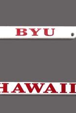 BYUH Plastic white License Frame