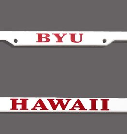 BYUH Plastic white License Frame