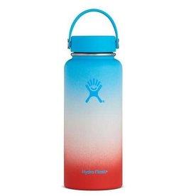 Hydro Flask DISC Hydro Flask 32 oz Wide Mouth Flex Cap Ocean-White-Guava