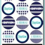 Sticker Baptism Promise - Blues