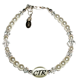 DISC PERFECT PEARLS RHINESTONE BRACELET