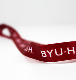 BYUH SUBLIMATED RIBBON LANYARD red