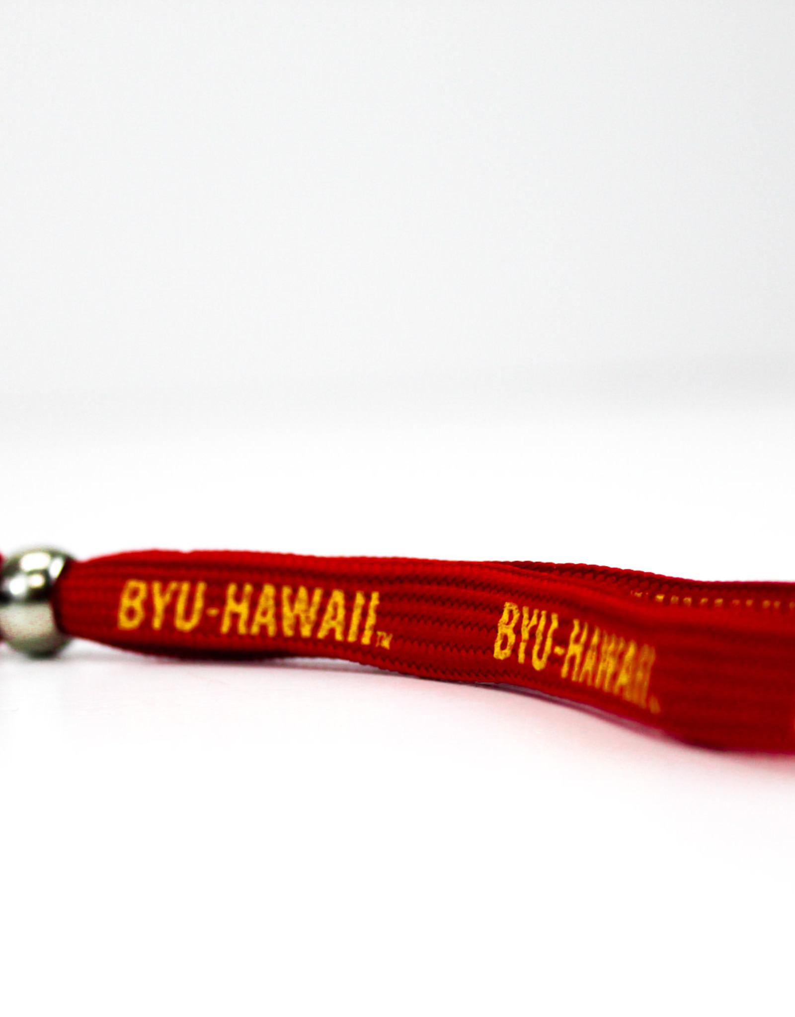 Shoelace Wristlet Keystrap Red Lanyard