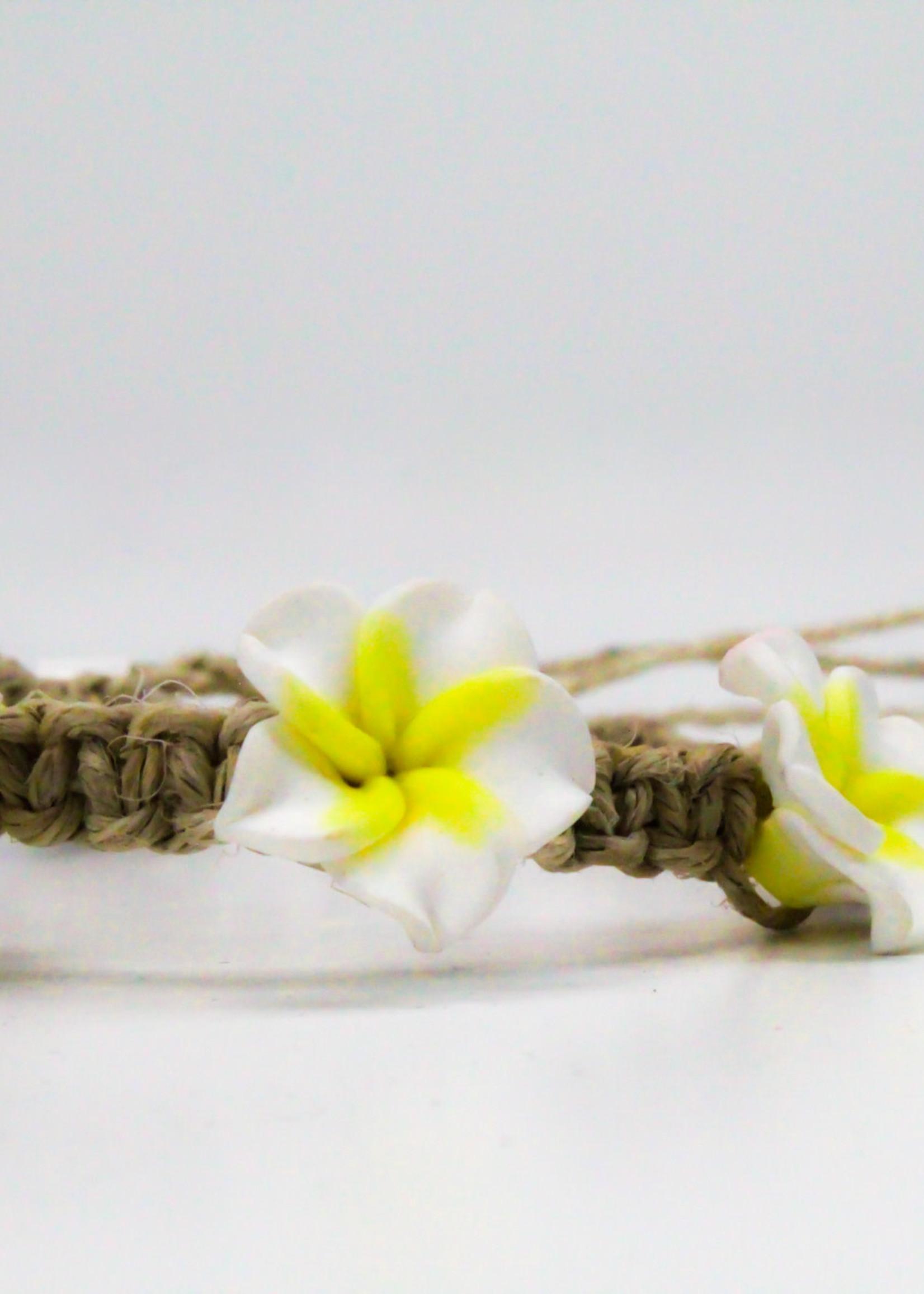 Friendship 3 Plumeria Bracelet -