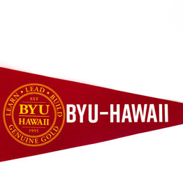 BYUH PENNANT RED & YELLOW