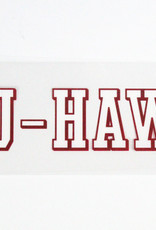BYU HAWAII DECAL WHITE w/RED TRIM