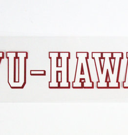 BYU HAWAII DECAL WHITE w/RED TRIM