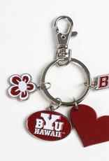 BYUH CHARM ICON KEYTAG FLOWER, HEART