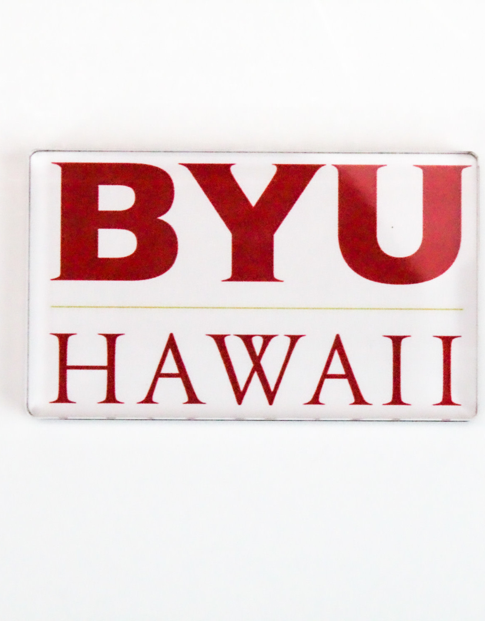 BYU-HAWAII LOGO MAGNET (white)
