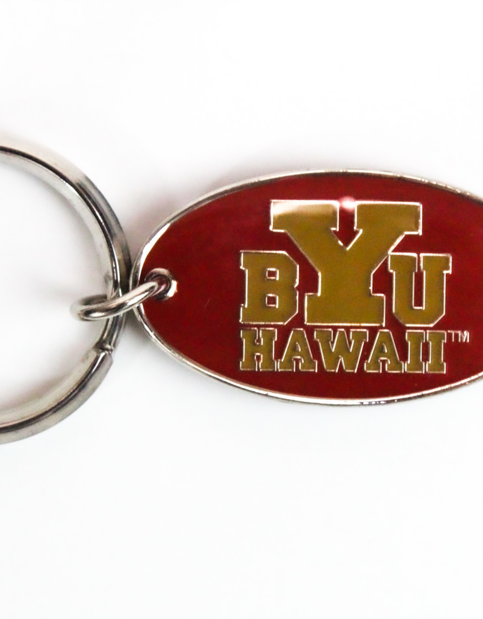 BYUH DOUBLE SIDED METAL CHROME KEYTAG