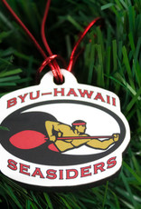 ORNAMENT SEASIDERS WOOD W/RED CORD