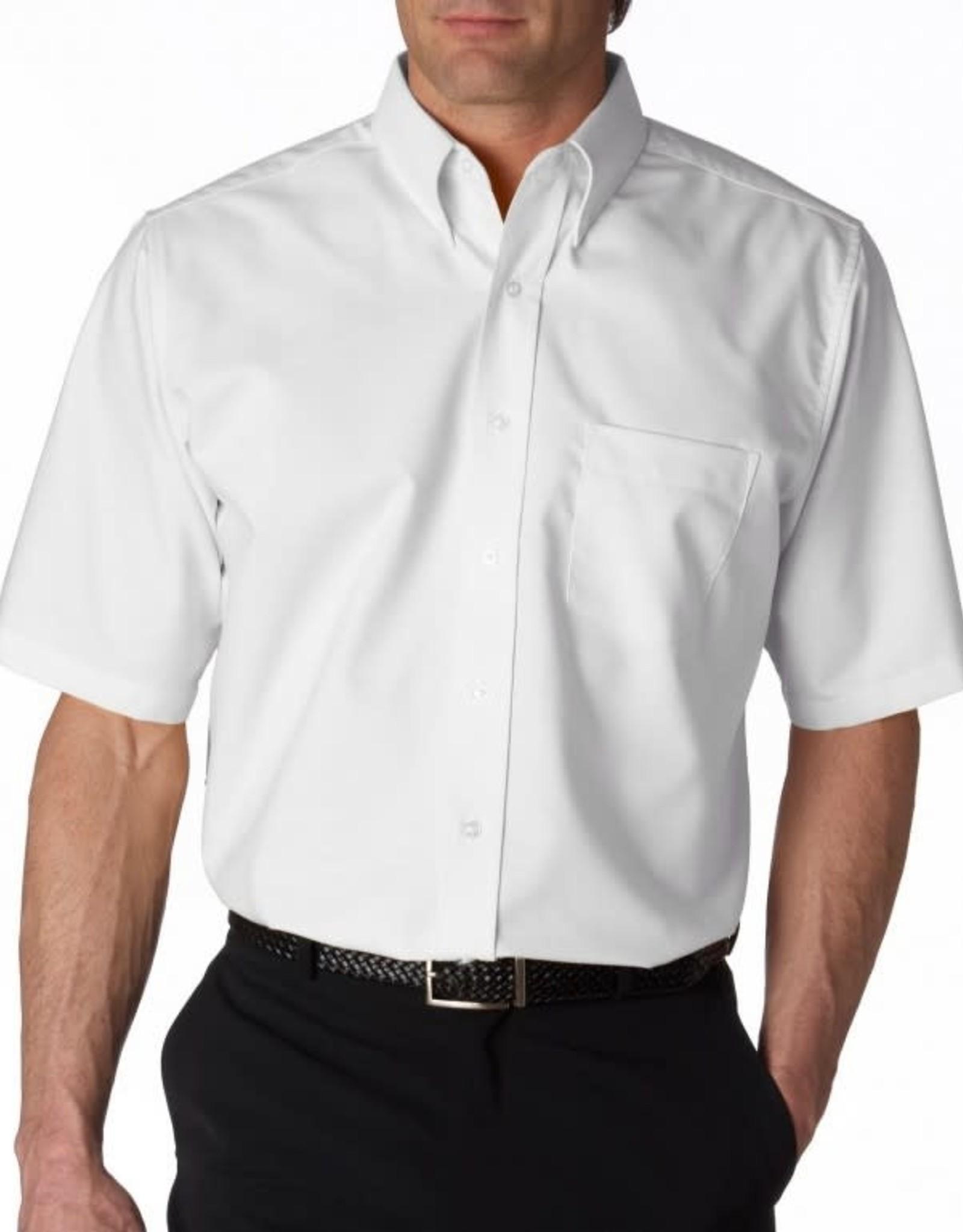 White Short Sleeve Dress Shirt