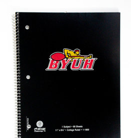 BYUH 1 SUBJECT/80SHT NOTEBOOK