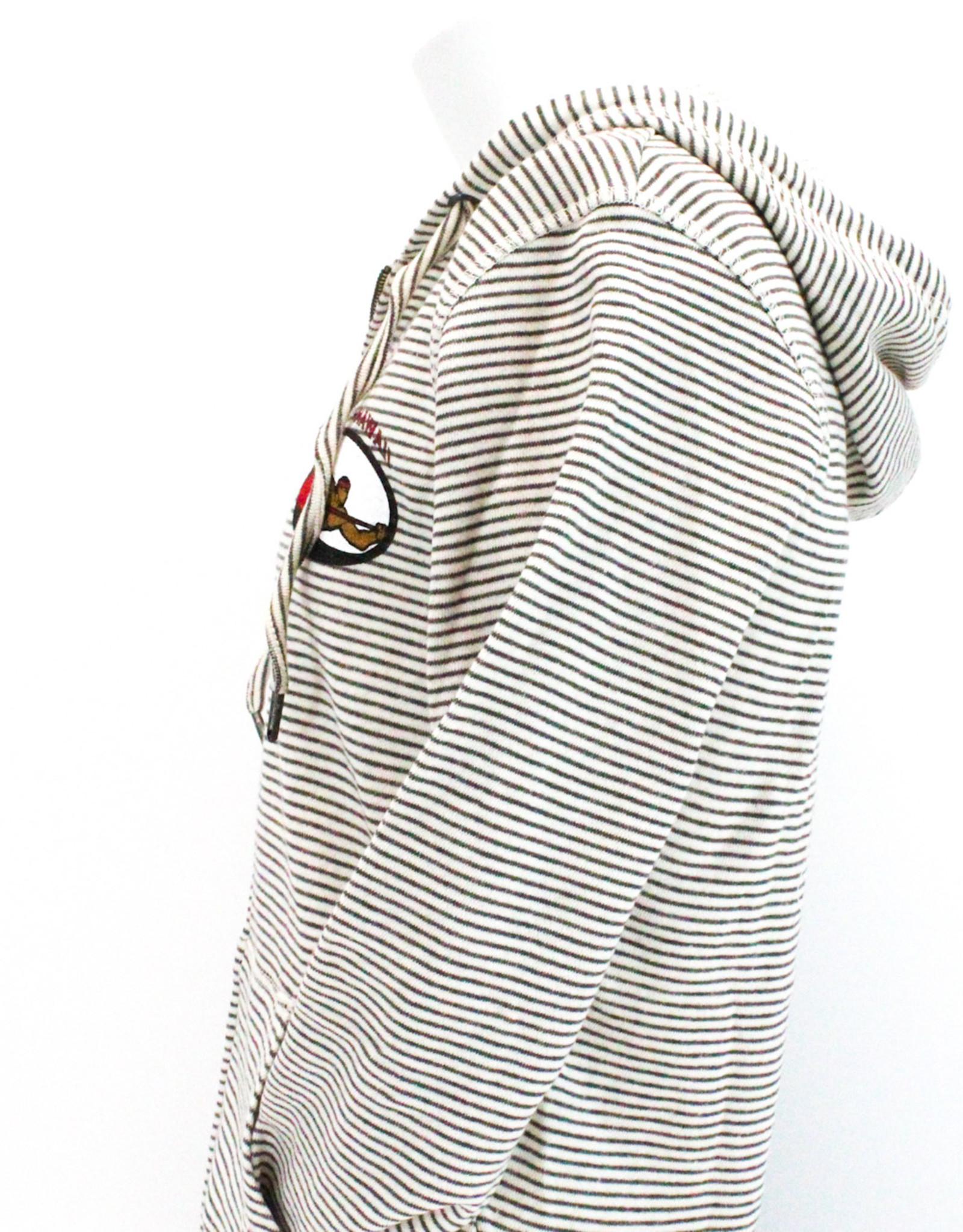 French Terry Full Zip Hoodie - Bone/Cinder
