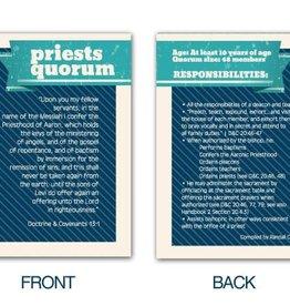 PRIESTS QUORUM POCKET CARDS