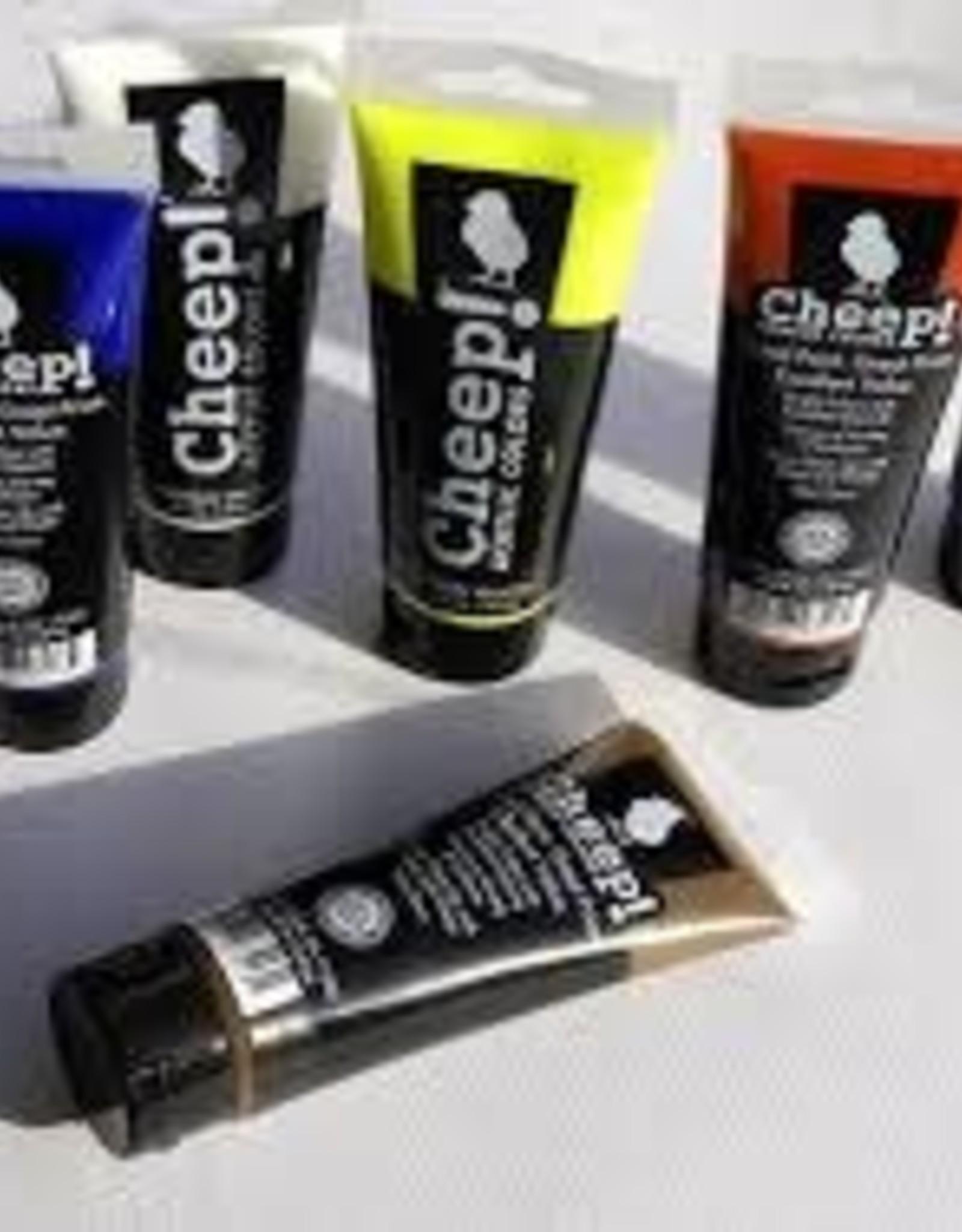 Cheep Acrylic Tube Paint 4oz -
