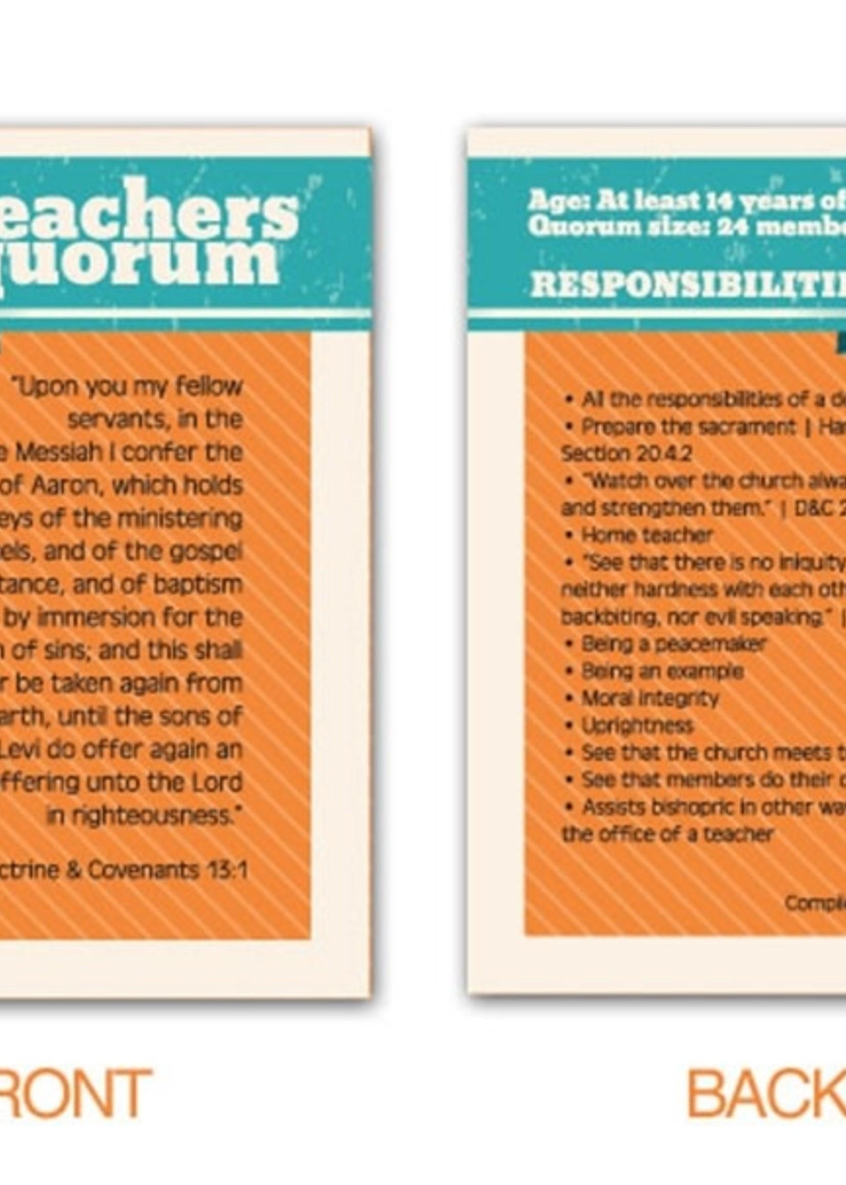 TEACHERS QUORUM POCKET CARDS
