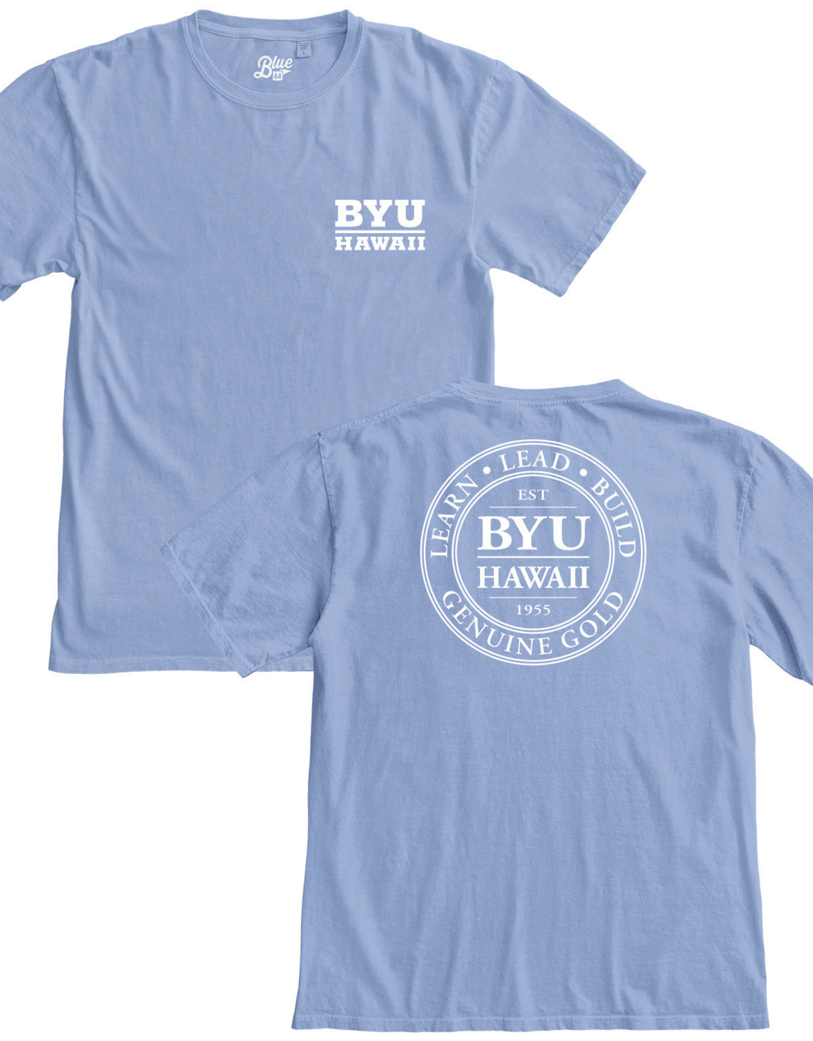 Blue 84 Clearance - BYU-Hawaii Logo Ringspun Tee