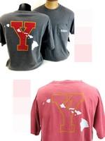 "Clearance BYU-Hawaii Dyed Ringspun Pocket Tee (""Y"" w/ Islands)"