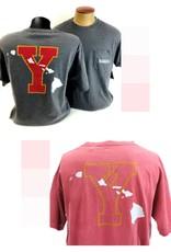 "BYU-Hawaii Dyed Ringspun Pocket Tee (""Y"" w/ Islands)"