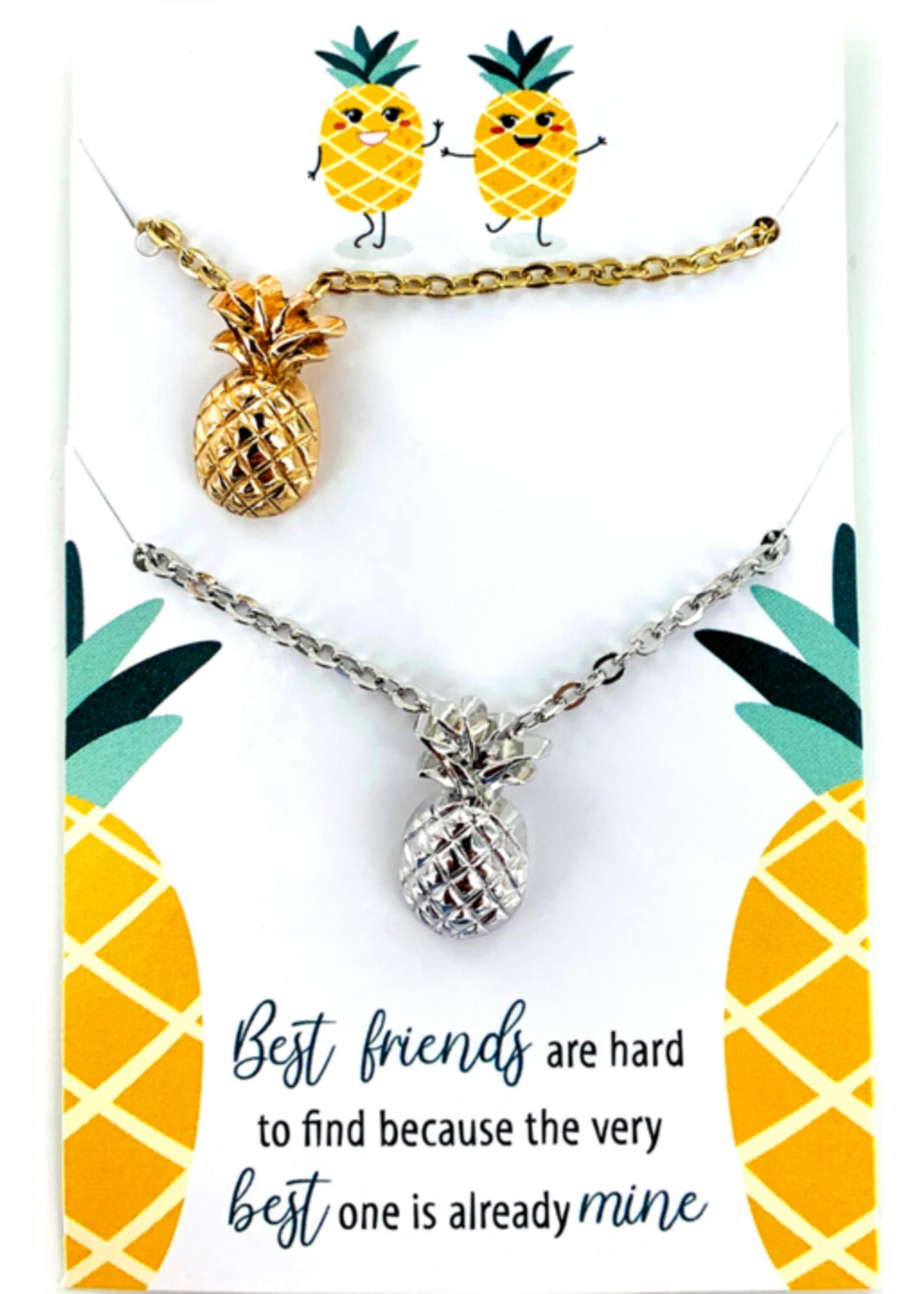 Best Friends Pineapple Necklaces