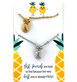 Best Friends Pineapple Necklaces