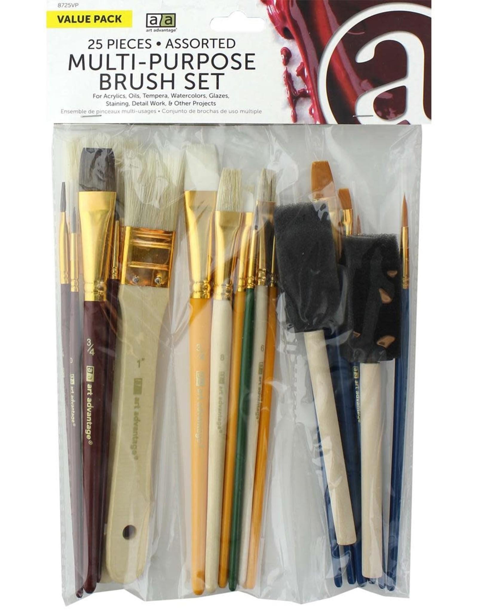 Art Advantage Brush Set Multi-Purpose 25pc