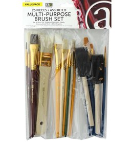 Art Advantage Brush Set Multi-Purpose 25pc