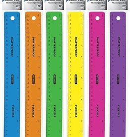 "Bazic Ruler Plastice 12"" Assorted"