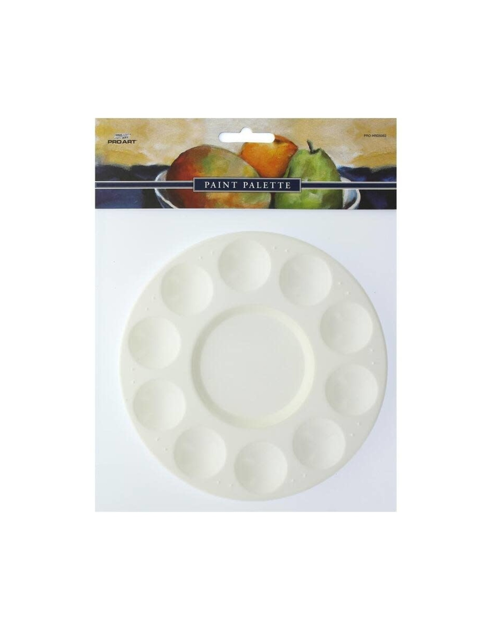 Pro Art Palette Plastic Round 10 Well Tray Pkg