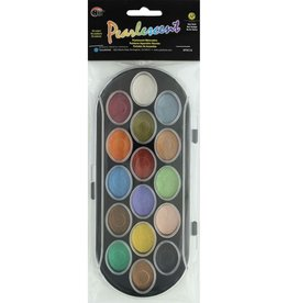 Y&C Niji Watercolor Set Pearlescent Pan 16pc