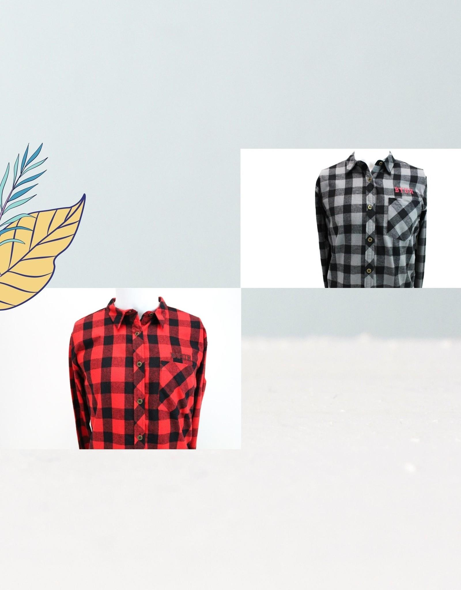 Ladies Flannel Button Down Shirt