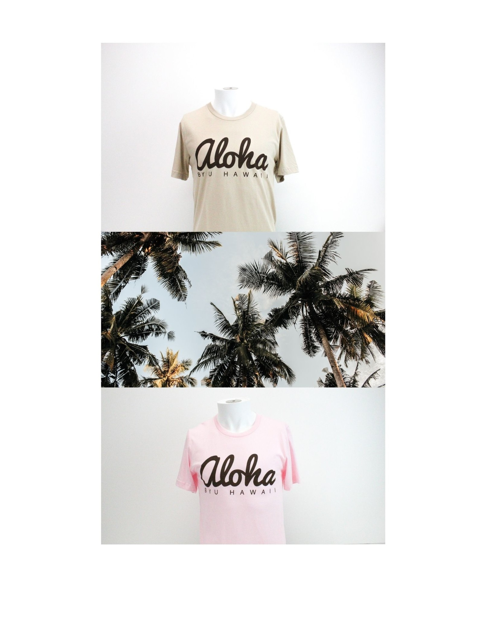 BYUH PRINT SERVICES BYUH Aloha Pink Jersey Tee