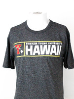 """Blue 84 BYU-Hawaii Red """"Y"""" w/ Islands and Yellow Lining Tee"""