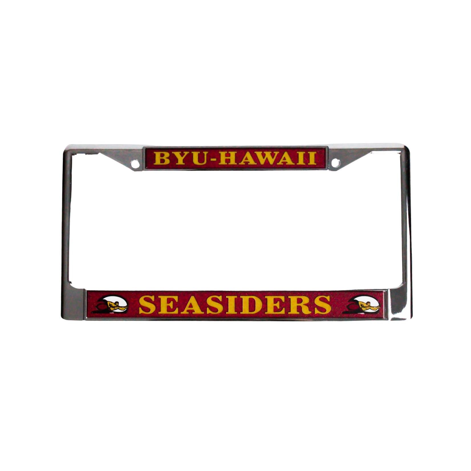 R&D BYU HAWAII LICENSE PLATE Chrome Insert Frame